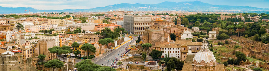 Cityscape,  panoramic view at Rome, Italy