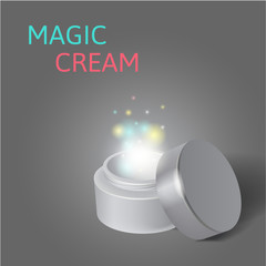 cosmetics,  jar with a miracle cream
