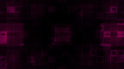 Dark Magenta Geometric Looping Animated Background