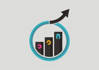 Graduate growth class education logo vector