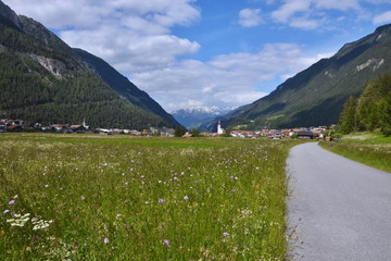 Austrian Alps-view to city Pfunds