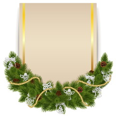 Vector Christmas Decoration with Card