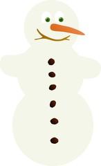 Simple smiling snowman