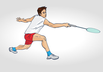Badminton : A Professional Badminton Player