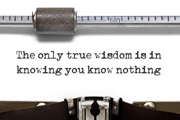 Typewriter True Wisdom