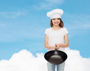 smiling little girl in white blank t-shirt
