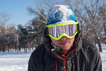 Snowboarder's portrait