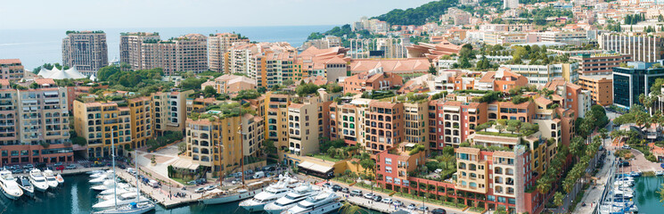 The marina in Monaco