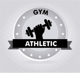 Fitness design over white backgroundvector illustration