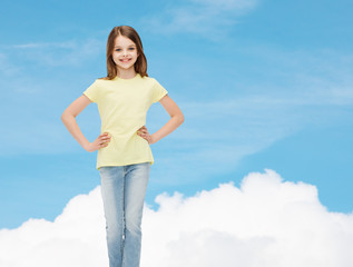 smiling little girl in casual clothes