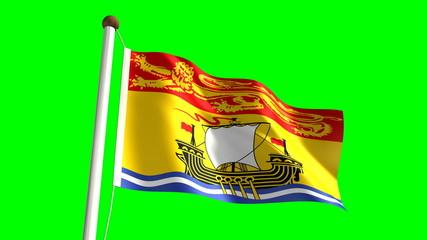 New Brunswick flag (seamless & green screen)