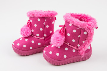 Cute baby girl pink shoes