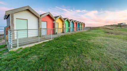 Beah huts in Northumberland