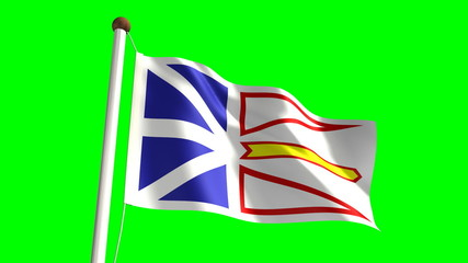 Newfoundland flag (seamless & green screen)