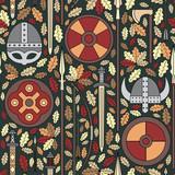 Fototapety seamless viking pattern 05