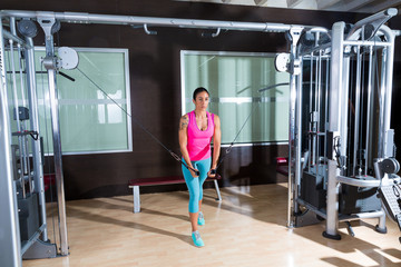 Standing Cable Crossover Fly flies woman workout