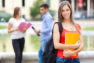 Female student at the park