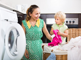 Home family laundry