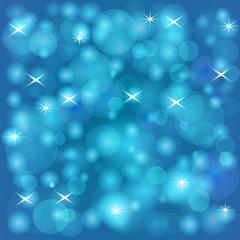 Baby Blue Lights  Blur Background