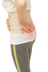woman have back pain ,sport injury