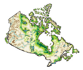 Canada Map Vector Illustration isolated on a white background