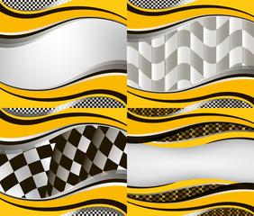 Set of checkered vector flag background. Eps10