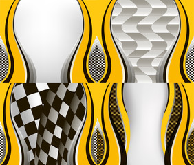 Set of checkered vector flag background. Eps10