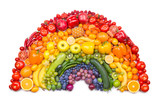 fruit and vegetable rainbow mouse pad