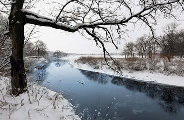 winter scene on river