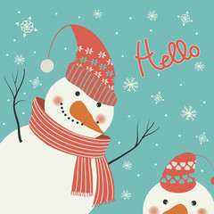 Snowman says hello