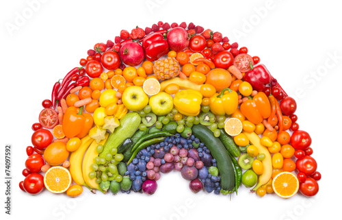 Keuken foto achterwand Eten fruit and vegetable rainbow