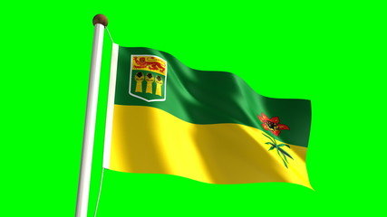 Saskatchewan flag (seamless & green screen)