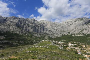 Mountain above Makarska in Croatia
