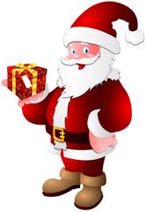 Santa claus giving