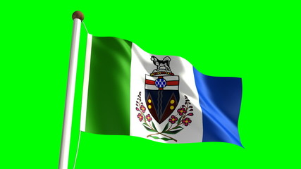 Yukon flag (seamless & green screen)