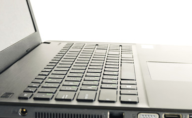 abstract black laptop isolated over white