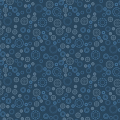 Seamless pattern of gears.