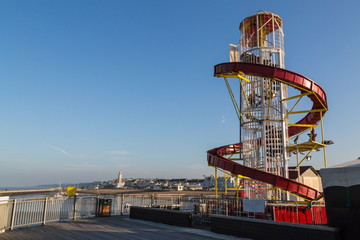 Helter skelter on the pier in Herne Bay, Kent