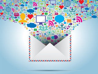 communication and file sharing by e-mail message