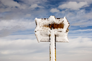Frozen signs.