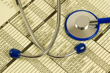 Stethoscope With Patient Paperwork