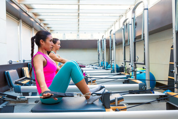 Pilates reformer workout exercises women