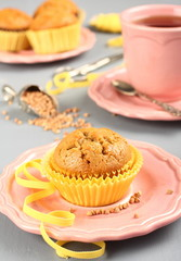 Homemade gluten free muffins from buckwheat flour