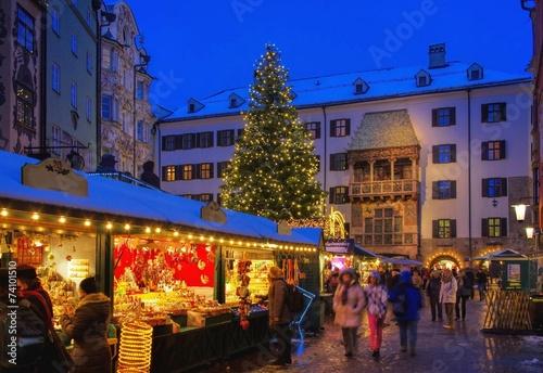 Aluminium Bedehuis Innsbruck Weihnachtsmarkt - Innsbruck christmas market 06
