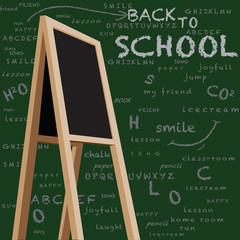 Storefront chalkboard back to school