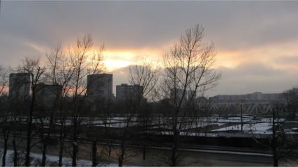 Закат над Московской улицей (таймлапс)