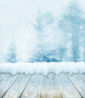 canvas print picture - winter christmas background