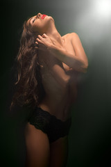 sensual topless woman