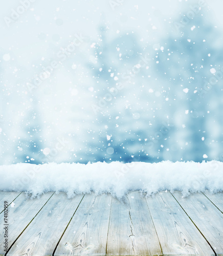 canvas print picture winter christmas background