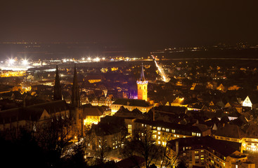 obernai vue panoramique la nuit kazy